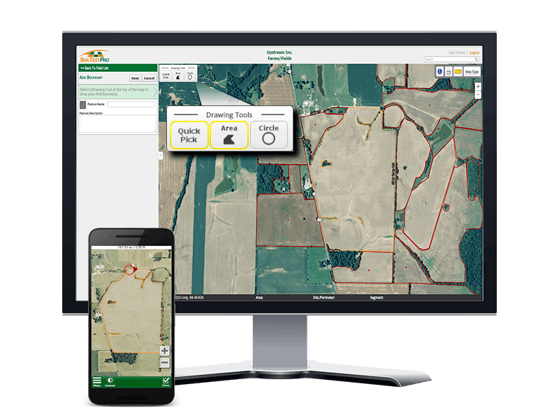 Step 3: Draw your Field Boundaries on your Web Headquarters or Soil Test Pro Mobile Device