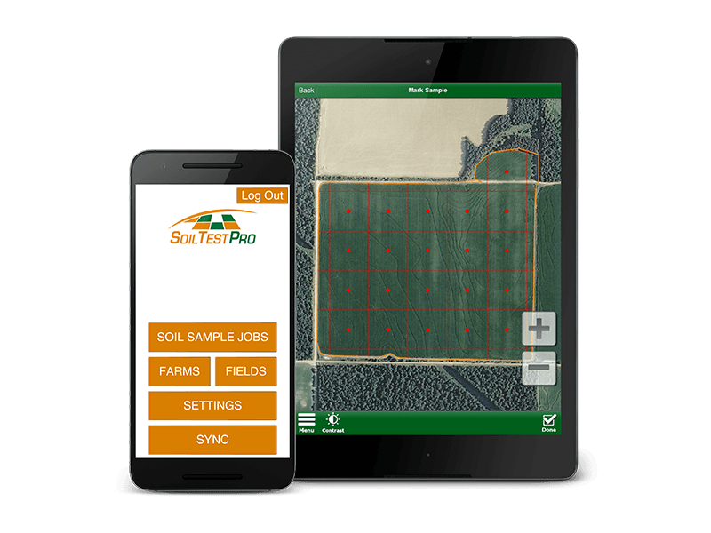 Soil Test Pro Mobile Phone - Home Page & Tablet